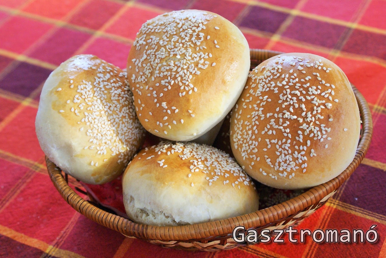 Házi hamburger zsemle recept