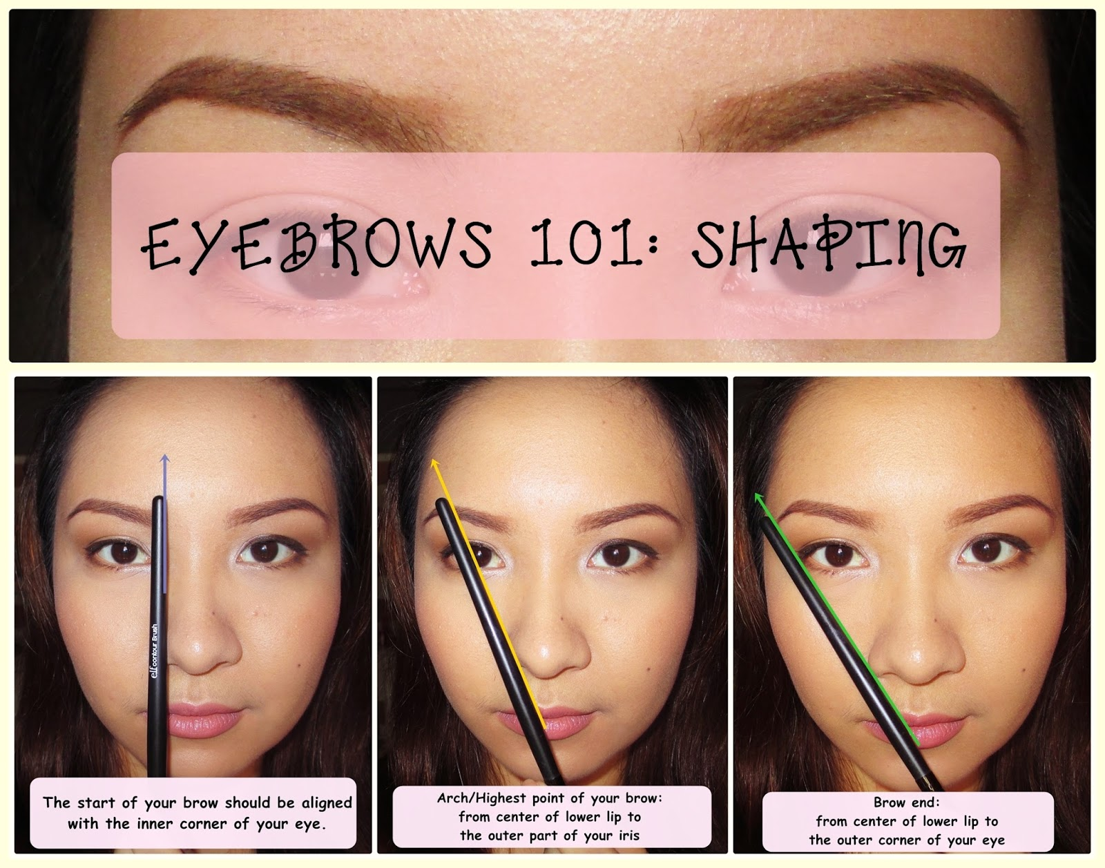 Make Me Up Before You Go Go Eyebrows 101 How To Shape Your Brows
