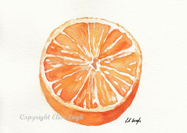 watercolor orange