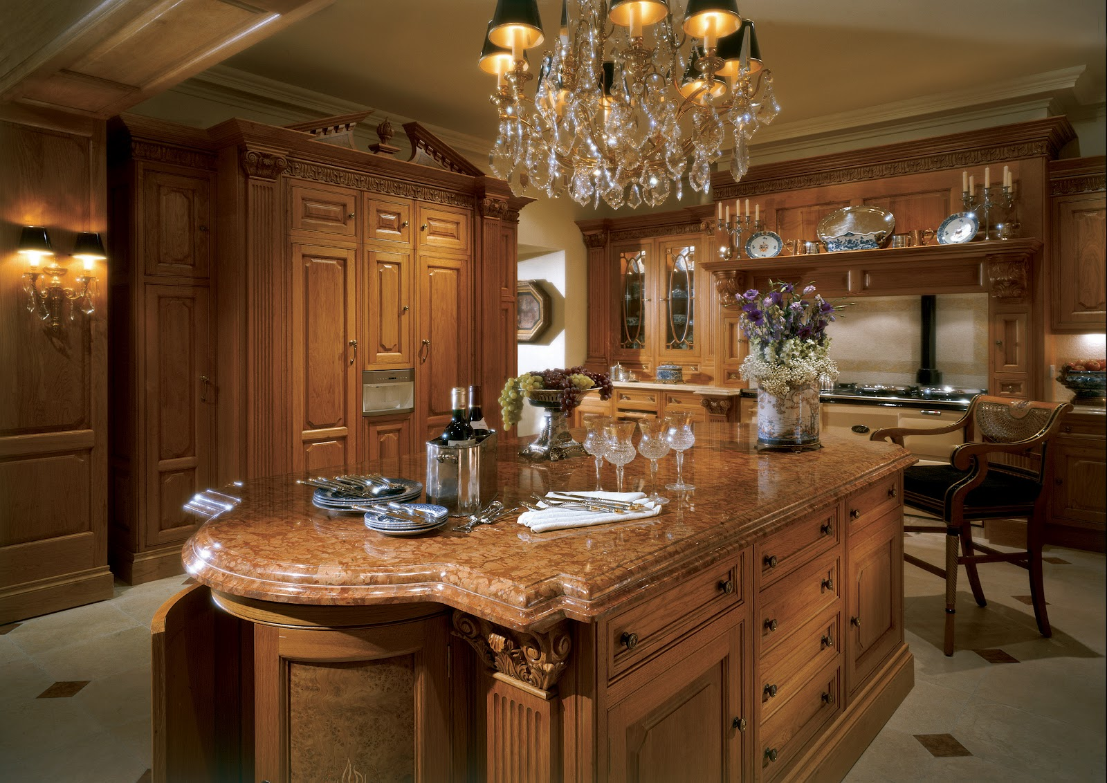 Kitchen Designers Nottingham. Regency Honey Oak kitchen with a Victorian Belgravia Mantle  TRADITION INTERIORS OF NOTTINGHAM Clive Christian Luxury Kitchen