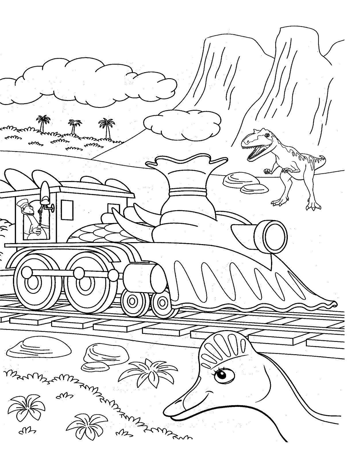Blog de los niños: Dino Tren para colorear