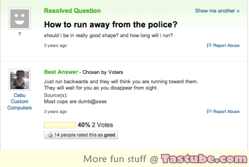 How to run away from the police