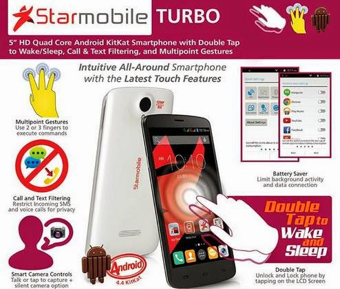 Starmobile Turbo: 5-inch HD, Quad Core, KitKat for Php6,990