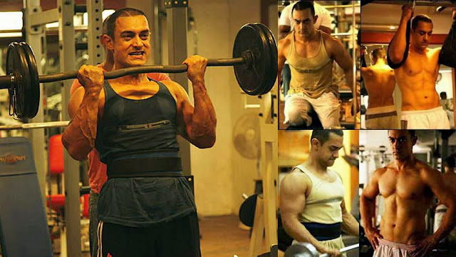 Aamir Khan doing workout and tough exercises in jim for getting perfect abs