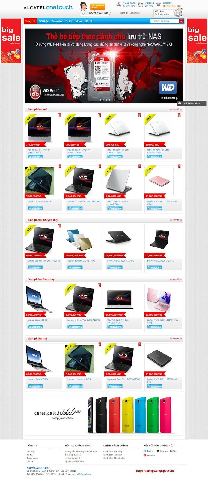 Source PHP Mã nguồn Website bán Laptop 3 lớp