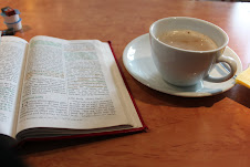 Reading and sipping to start your day.