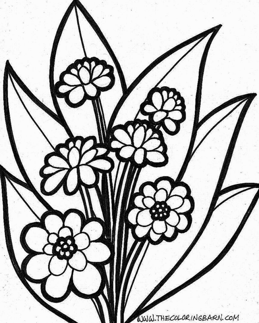 Colouring in pictures of flowers - Coloring Pictures Flowers Free Coloring Pictures