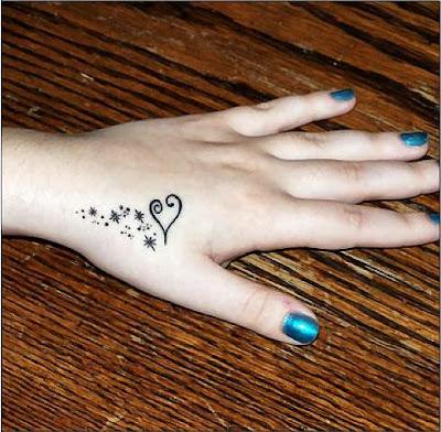 Heart Tattoos On The Hand. Heart Hand Tattoo Design-Best