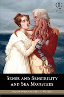 Book cover of Sense and Sensibility and Sea Monsters by Ben H. Winters and Jane Austen