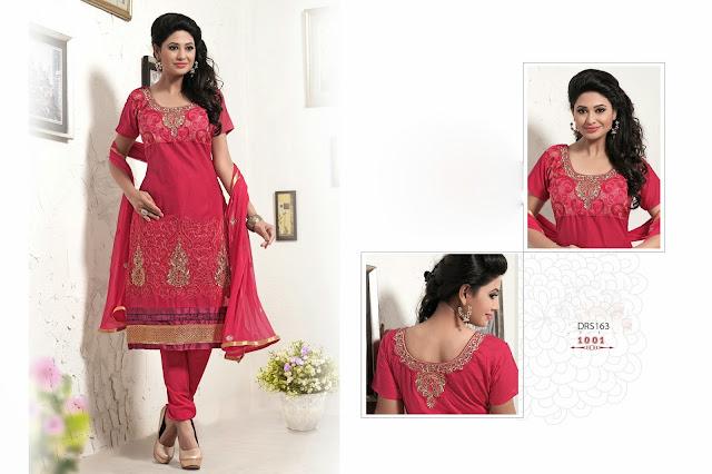 New Designer Cambric Cotton Long Salwar Kameez