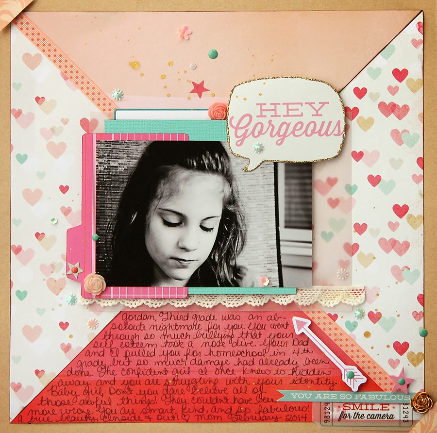 Sampler Kit Club_Bullying_Scrapbook_Page_Gold