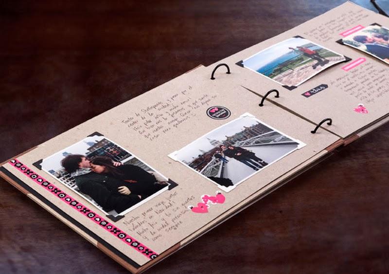 Lbum de scrapbooking inkee que vivan los recuerdos no me toques las helv ticas blog - Hacer un album de fotos casero ...