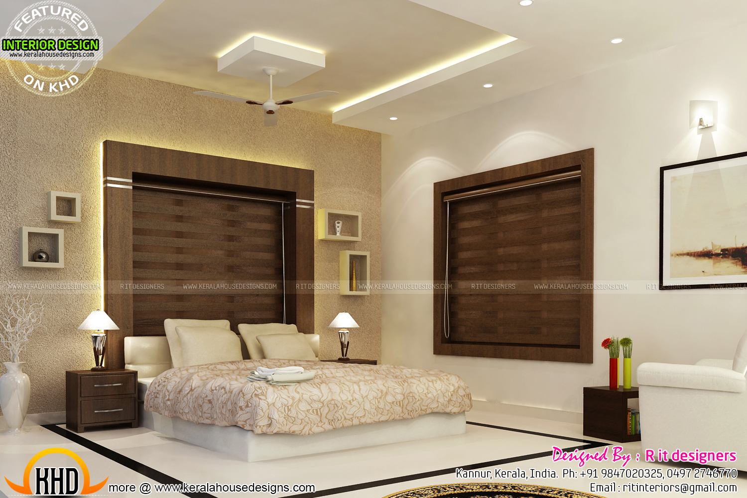 July 2015 kerala home design and floor plans for Master bedroom designs in india