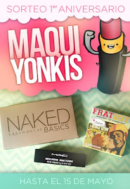 Sorteo 1er aniversario Maquiyonkis