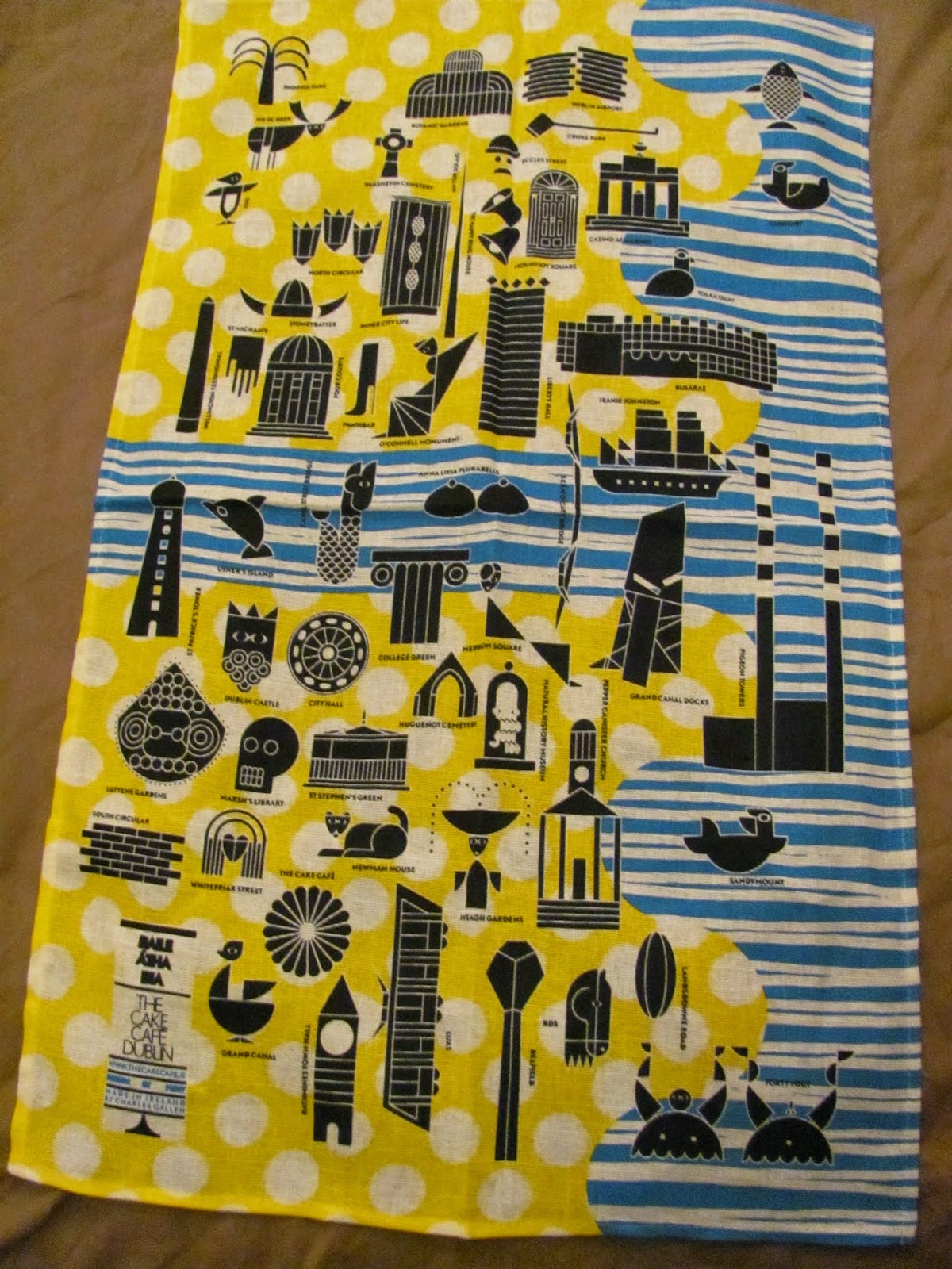 Map of Dublin Tea Towel