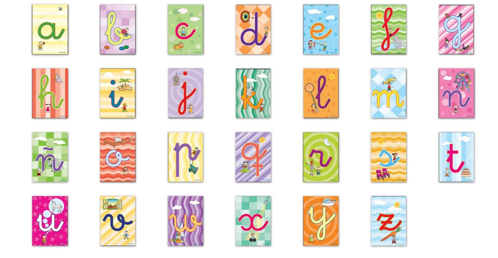 Aprende divirtiendote: Tarjetas de letras y números