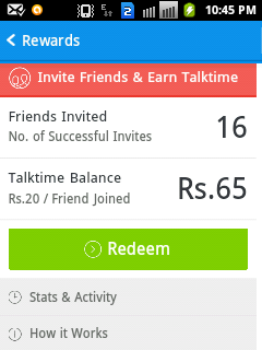 Invite and Earn : Get Rs 20 / Invite from Hike Android App