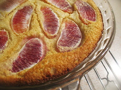 Almond Clafouti with Blood Orange