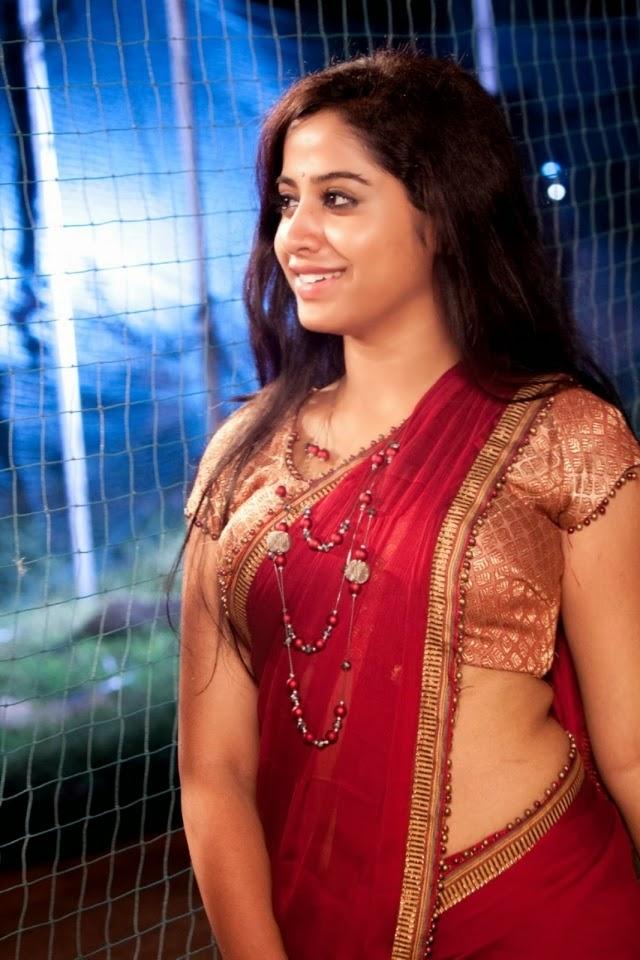 Actress Low Hip Saree Photos