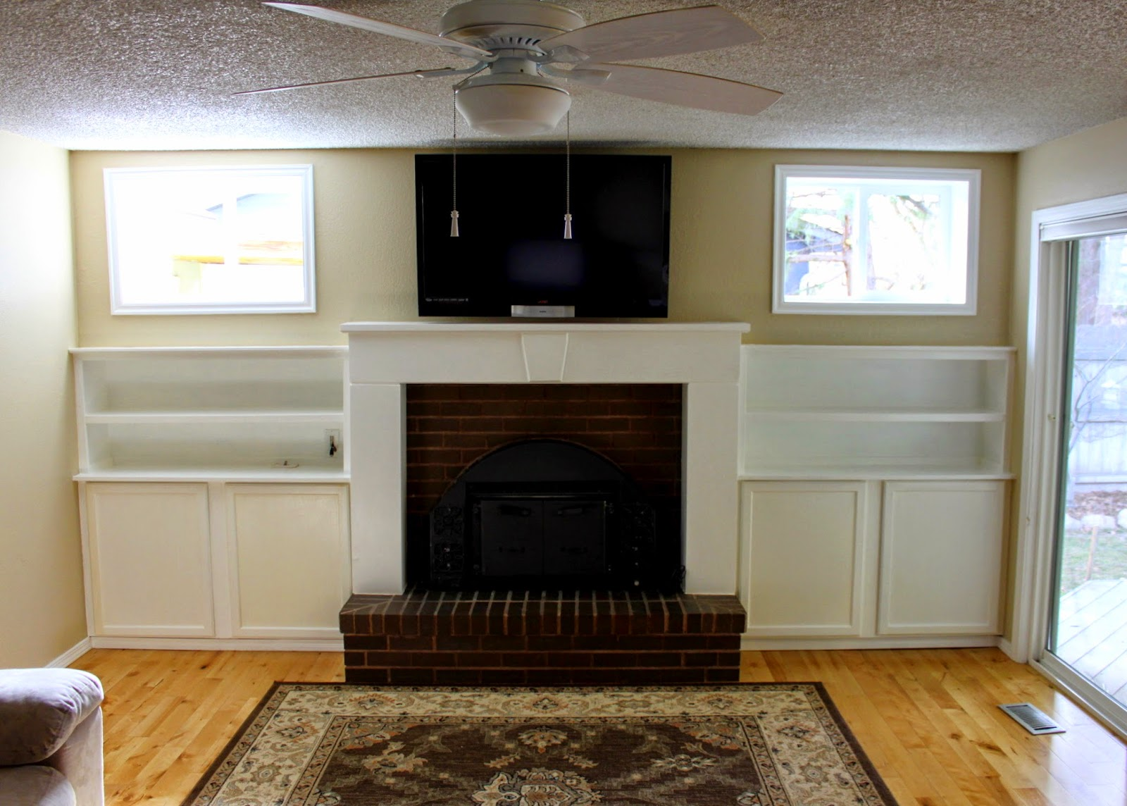 crafty sisters fireplace built ins