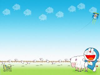 Background Power Point Doraemon