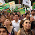 Miles de personas escucharon el segundo informe de Rolando Zapata Bello