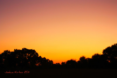 Orange yellow and purple sunset in Gainesville Florida
