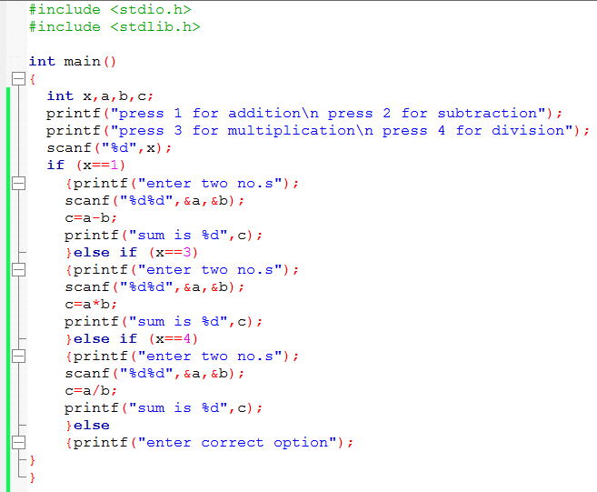 if else statement in c language pdf