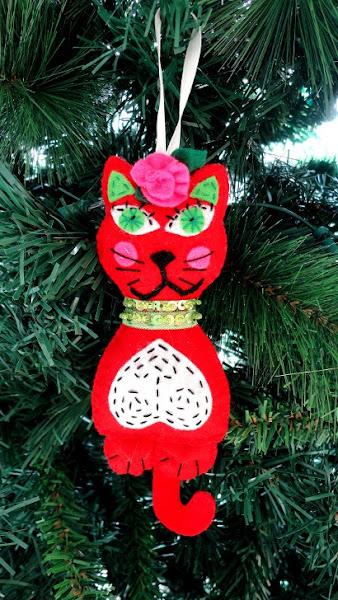 Arbol de navidad bordado aprender manualidades es - Adornos arbol navidad fieltro ...