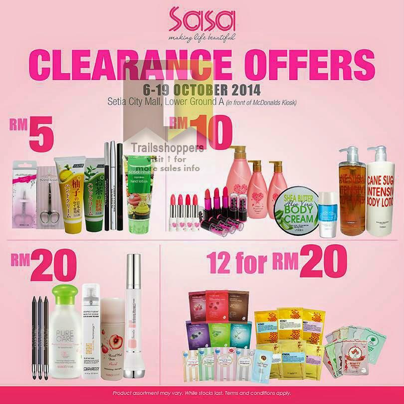 SASA Clearance Offer malaysia sale
