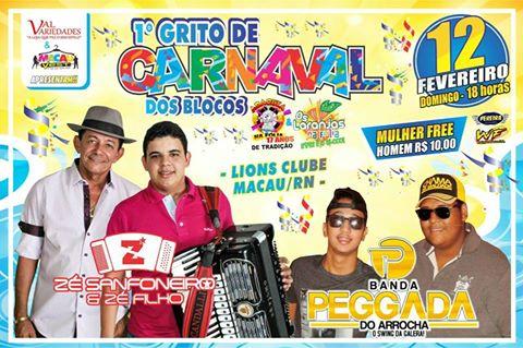 1º GRITO DE CARNAVAL - LIONS CLUB DE MACAU - 12-02-17 ÁS 18 H.
