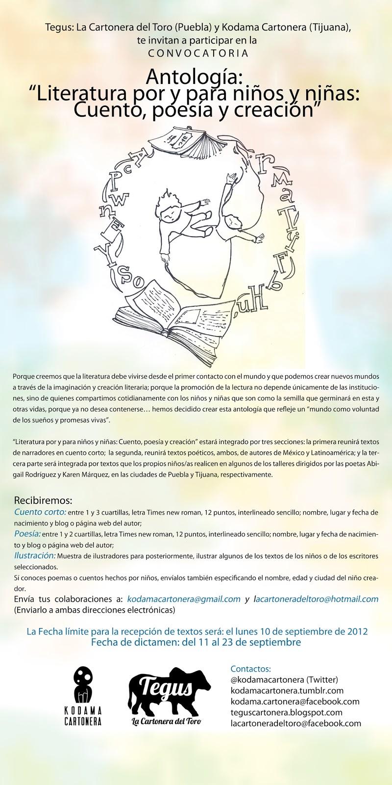 Tegus, La cartonera del Toro: agosto 2012