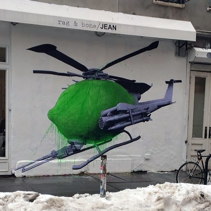 Our friend Ludo is currently in snowy New York City where he just finished working on this new street piece. 1