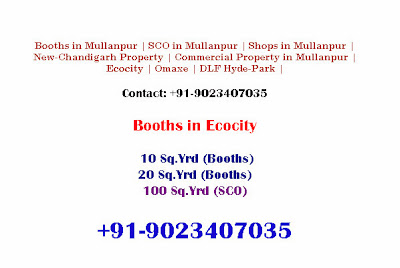 Property in Mullanpur New-Chandigarh, Booths, SCO, Ecocity, DLF, Omaxe