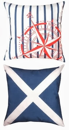 Reversible Nautical Pillows