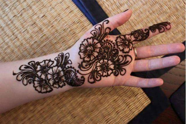Mehndi Designs Rose : Awesome indian mehndi designs pics simple henna