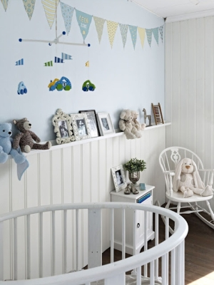 branco e azul -quarto bebe