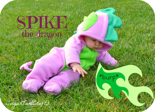 Baby wearing My Little Pony's Spike the Dragon Costume