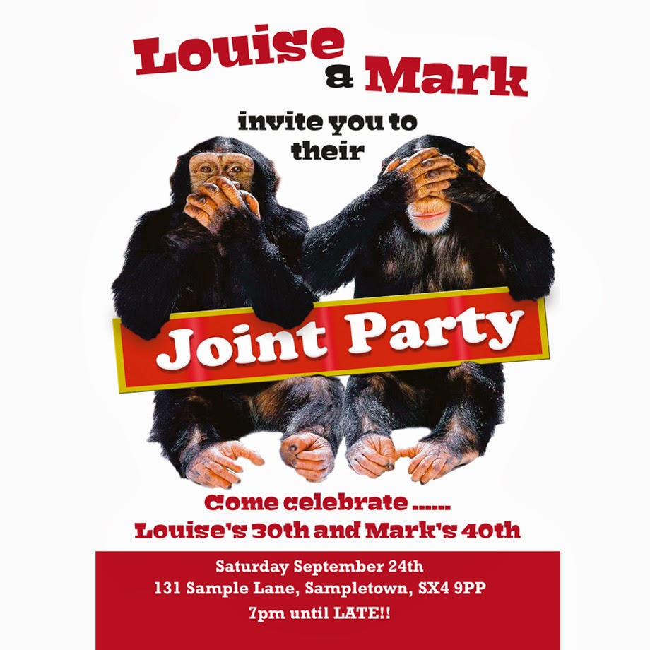 Personalised Joint Party Invitation
