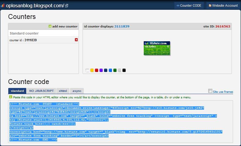 Tinggal Copy Paste Kode HTML yang diberikan ke Blog Sobat