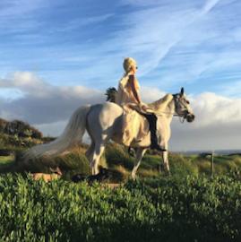 Gaga On Her Horse.