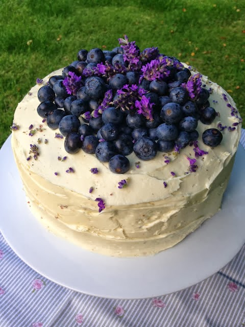 Lavender & Blueberry Cake