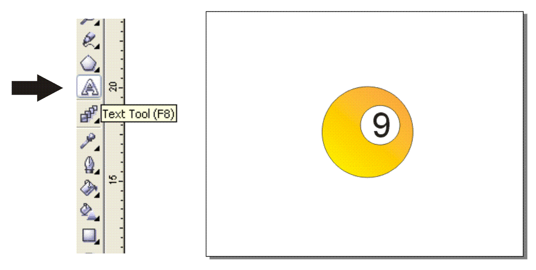 Cara Membuat Bola 9/Nine Ball Dengan Corel Draw