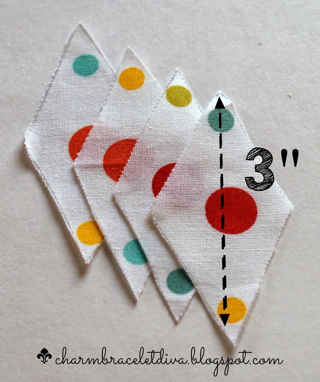 3 inch mini bunting template