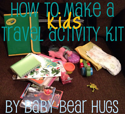 kids and toddler travel activity kit