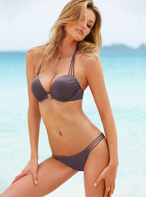 Edita Vilkeviciute showing off her hot body for Victoria's Secret swimwear