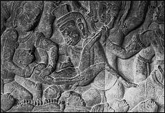 Templo de Angkor ca 1150. Un demonio practicándo un aborto. Lacasamundo