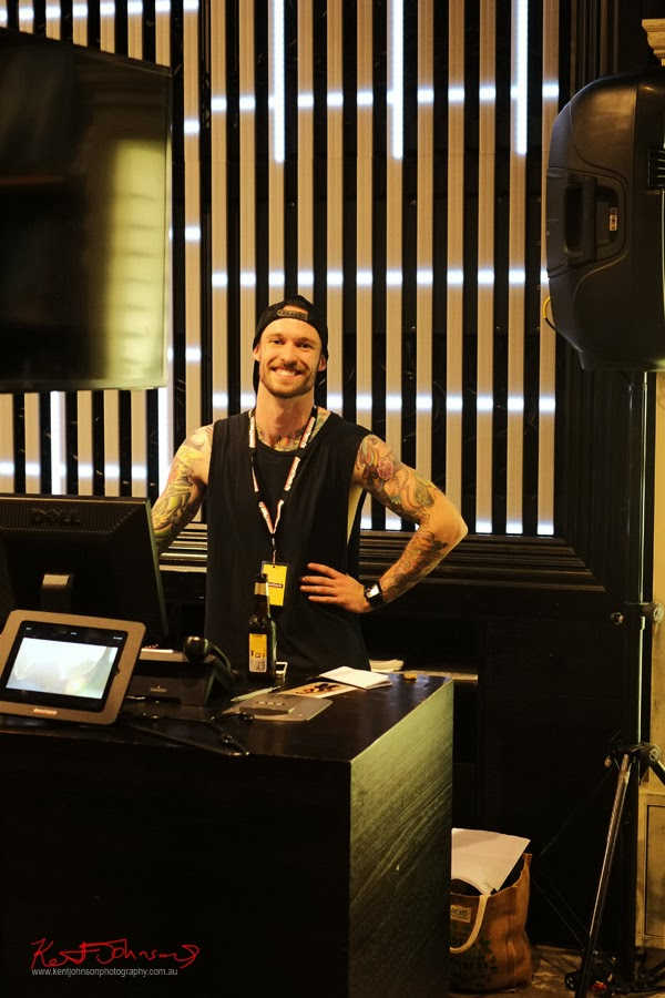 Anders, a very lovely crew member at General Pants; In-Store Kiosk Launch