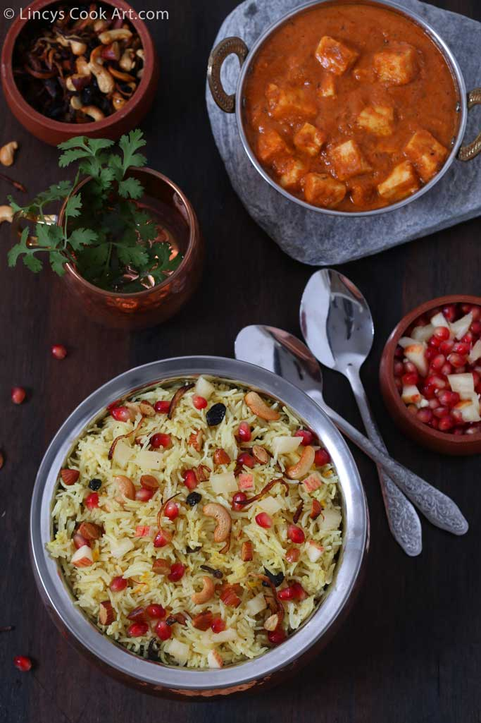 Saffron Pulao with fruits