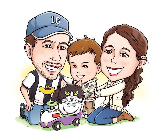 Familias en caricatura - Imagui